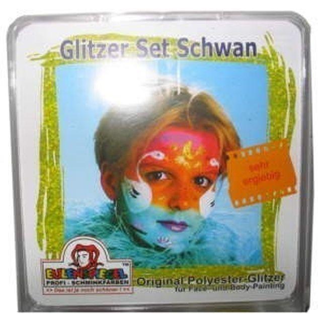 Glitzer - Set Schwan
