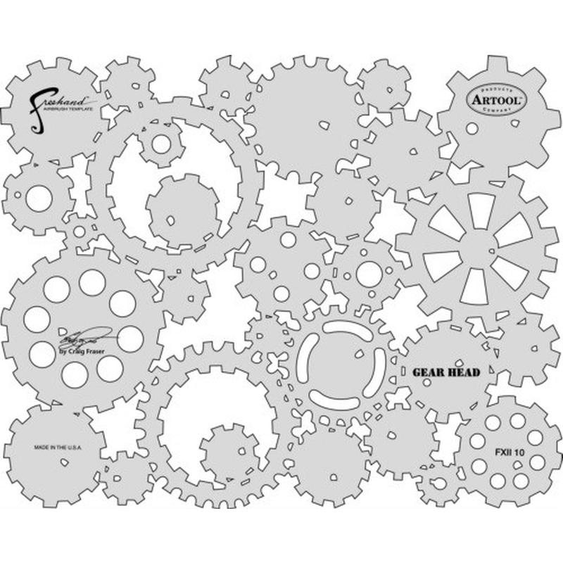 artool - Gear Head - Künstlerschablone FX II 200 350