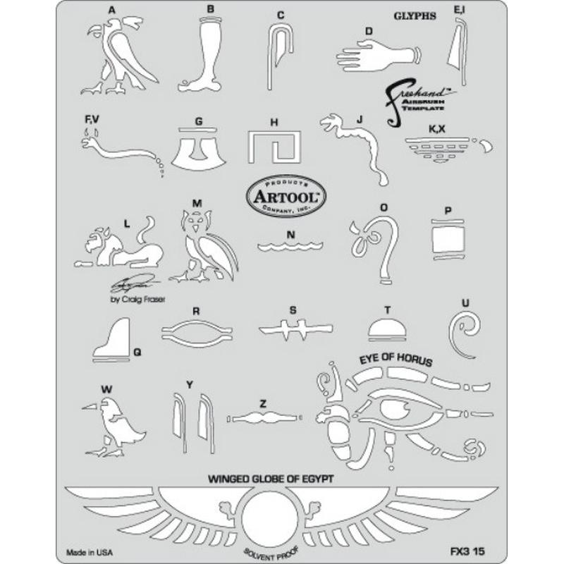 artool - Glyphs- Schablone FX 3 200 394