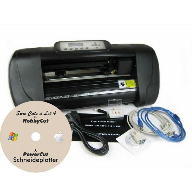 HobbyCut ABH-361 Schneideplotter , USB, für Windows mit Schneidesoftware Sure Cuts a Lot