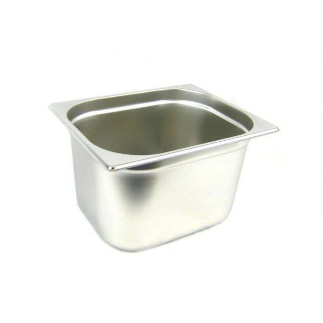 GN 1/2 Gastronormbehälter GN-Behälter Edelstahl 12,5 Liter Tiefe 200mm