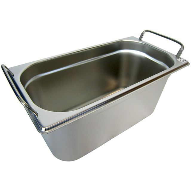 GN 1/3 Gastronormbehälter GN-Behälter Edelstahl 5,7 Liter Tiefe 150mm MIT FALLGRIFF