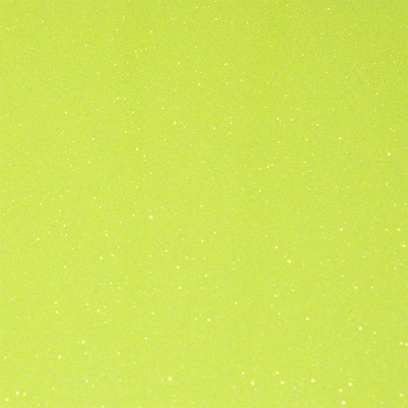 Flex T-Shirt Textil Plotter Folie DIN A4 - Glitter Neon Yellow - Siser G0022