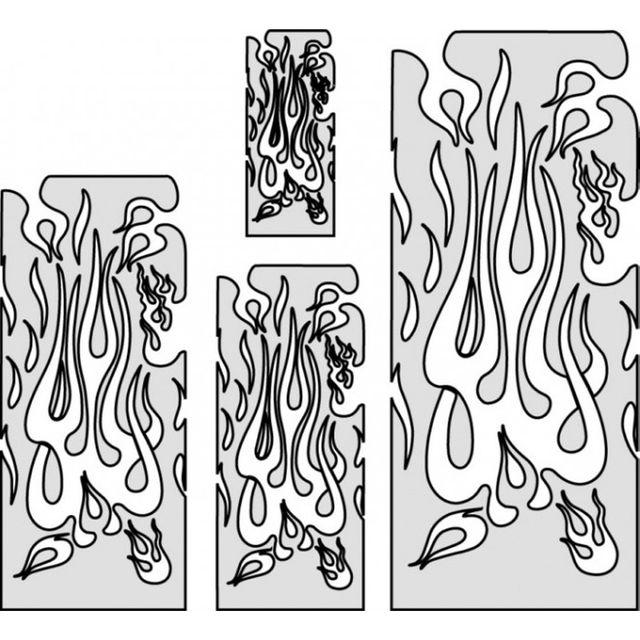 artool, Freihandschablone - the Multiple - Flame 200 314