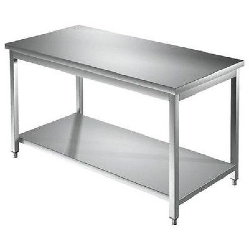 Edelstahl Arbeitstisch 1200 x 600 mm Freistehend Gastro Tisch ...