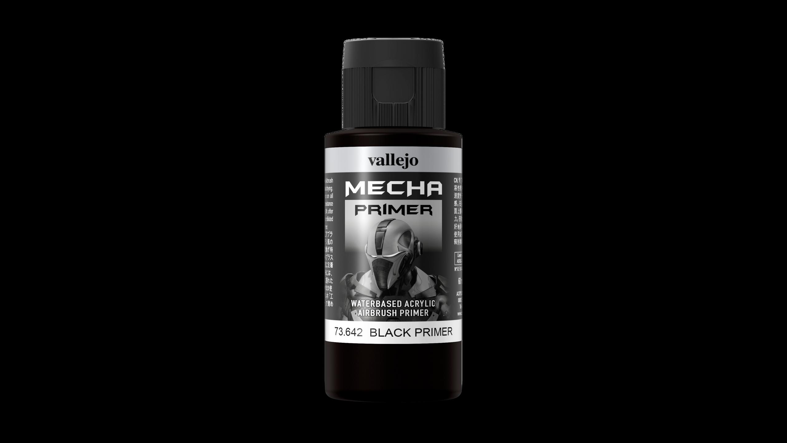 Vallejo Mecha Color 642 Primer Black 60ml Airbrushfarbe