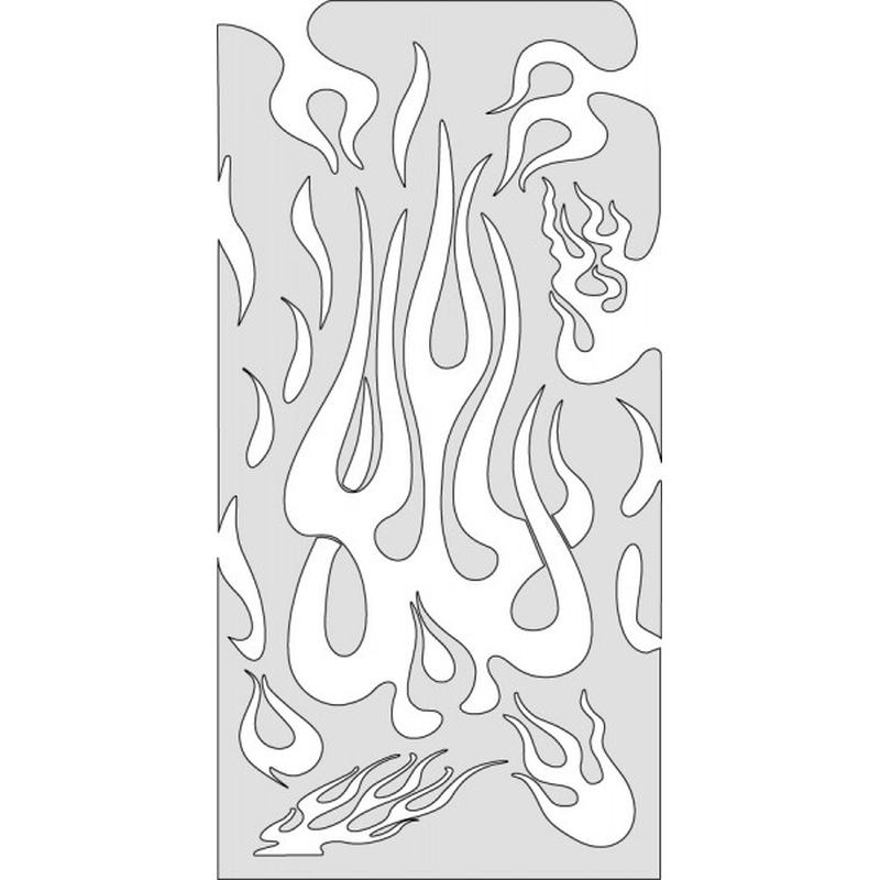 artool, Freihandschablone - the Medium - Flame 200 313