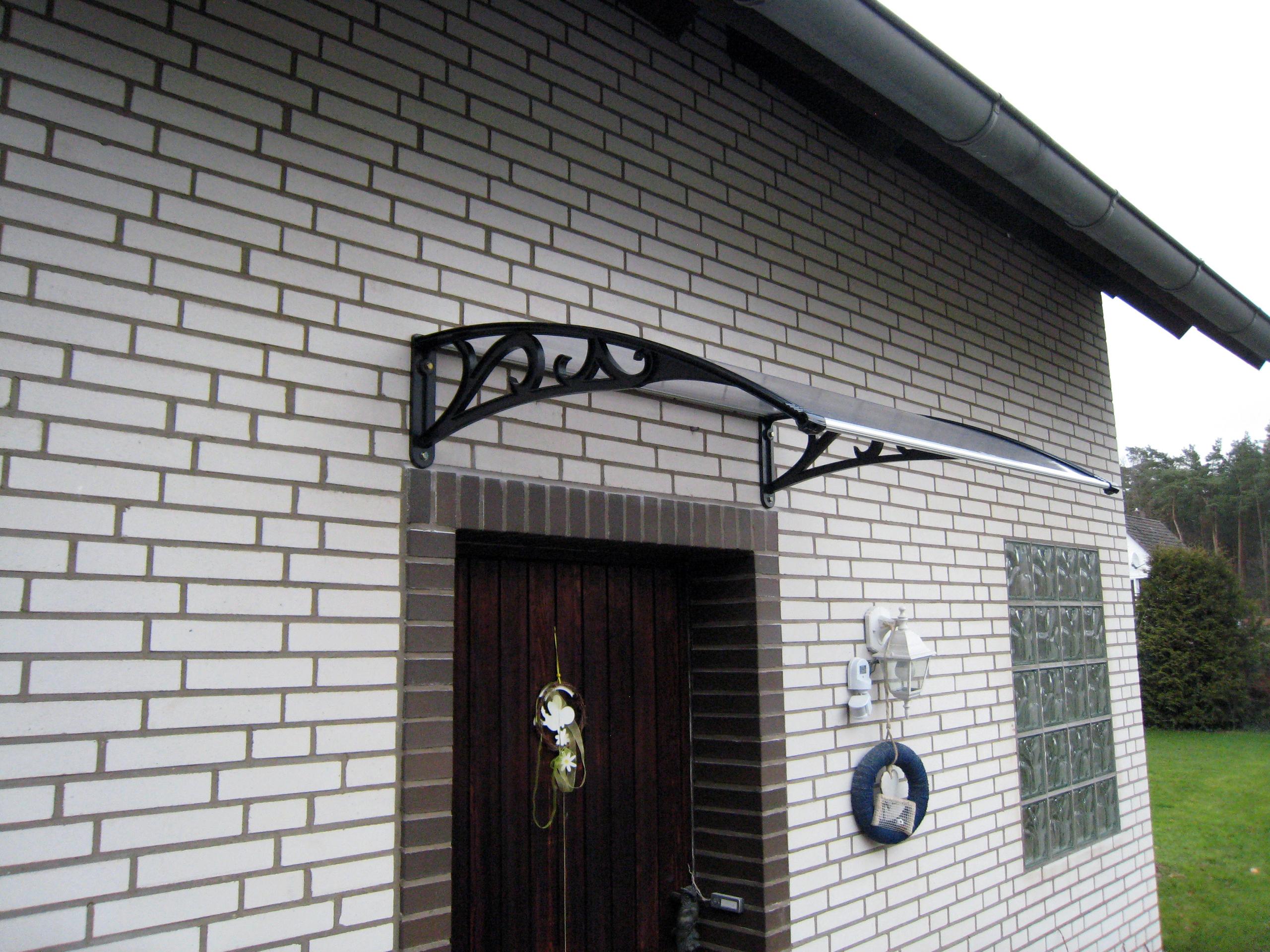 Vordach Haustur Uberdachung Hausturvordach Pultdach Ca 122x96cm