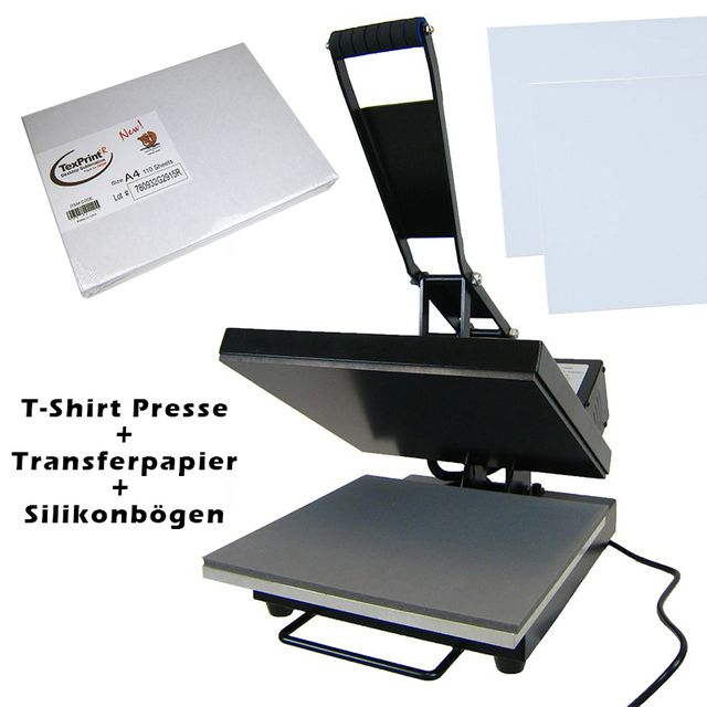 Sublimation Set T-Shirt Transfer Presse 38er und 110 x Papier für Ricoh