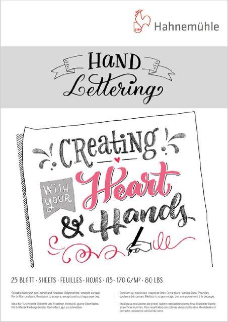 Hand Lettering Block Hahnemühle 25 Blatt A5