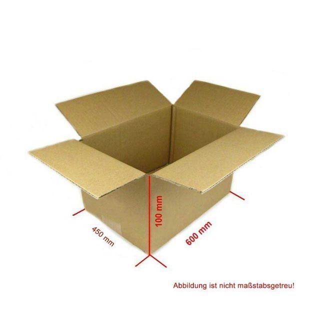 Karton 600x450x100 mm 25 Stück Versandkarton Faltkarton Braun