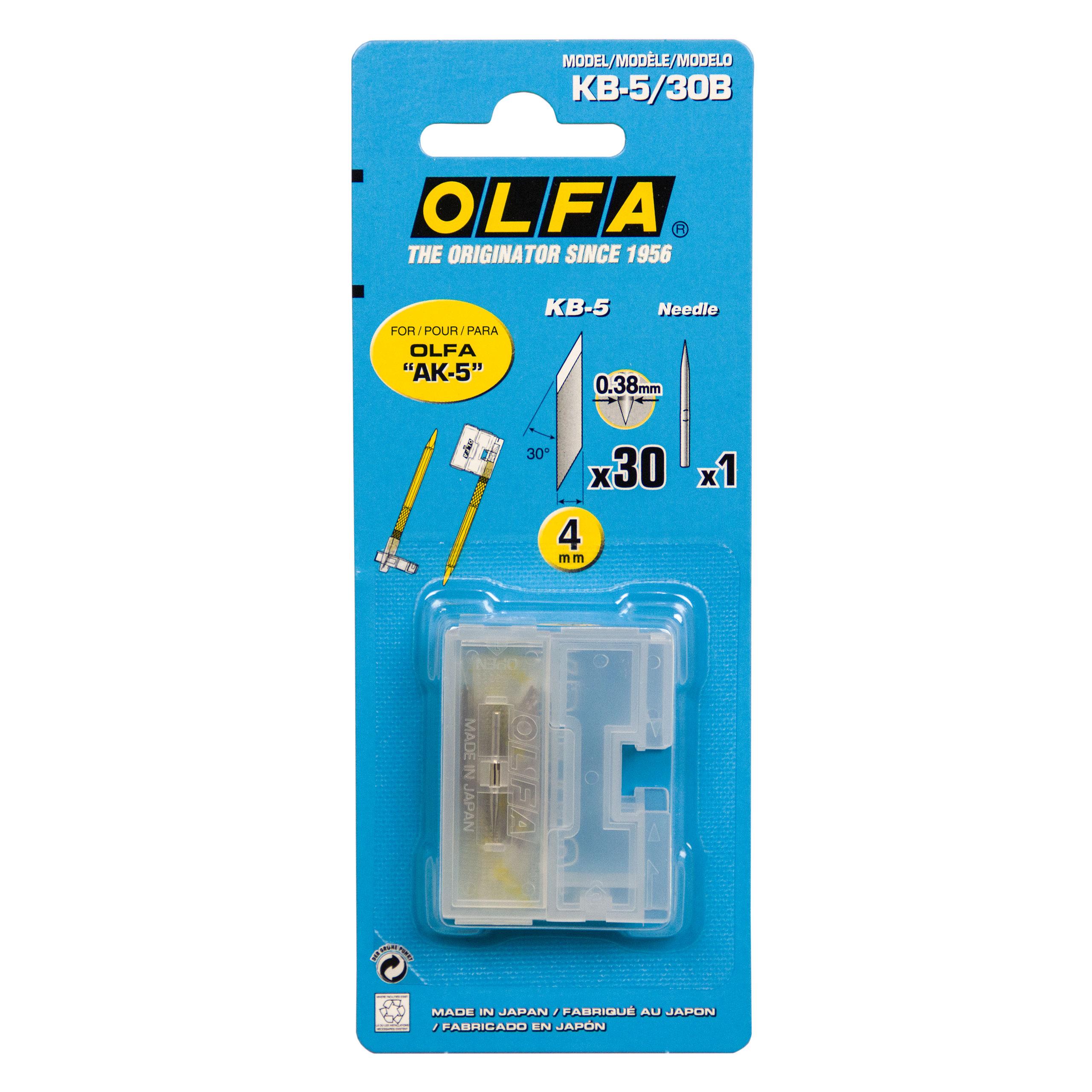 Olfa Ersatzklingen KB-5 bestehend aus 30 Klingen