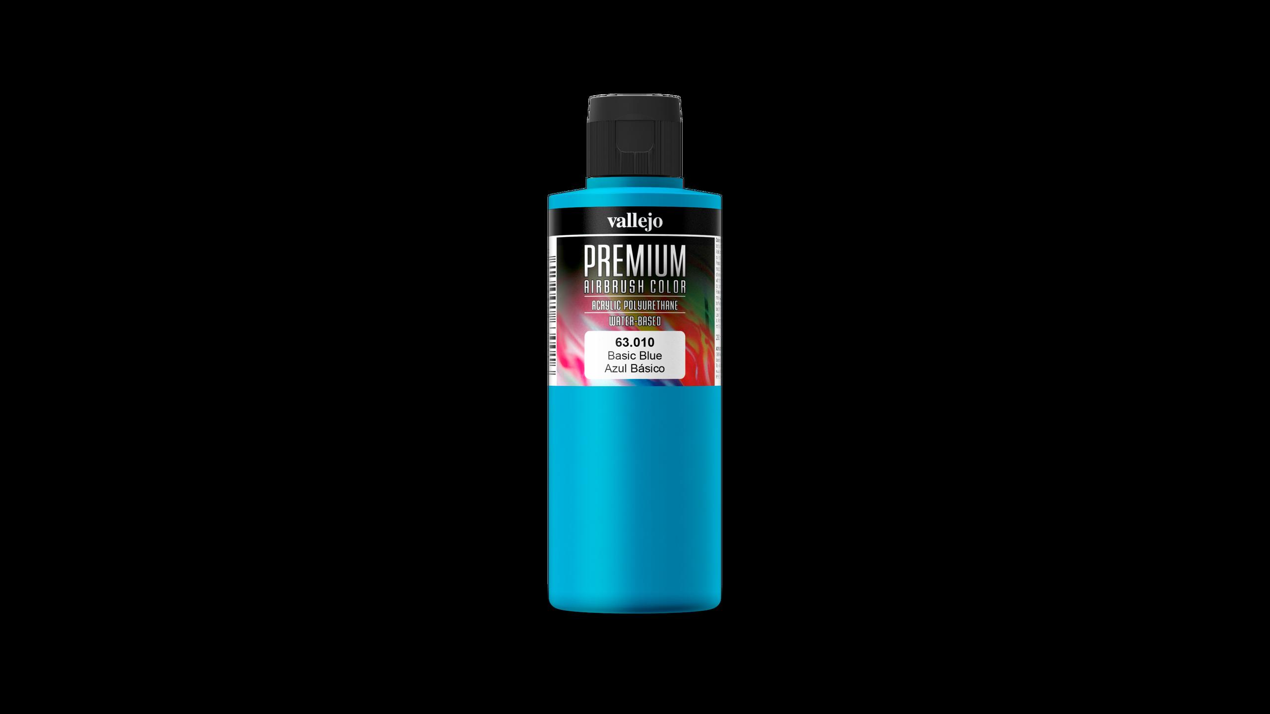 Premium Color Opaque Vallejo 63010 Basic Blue 200ml Airbrush Farbe