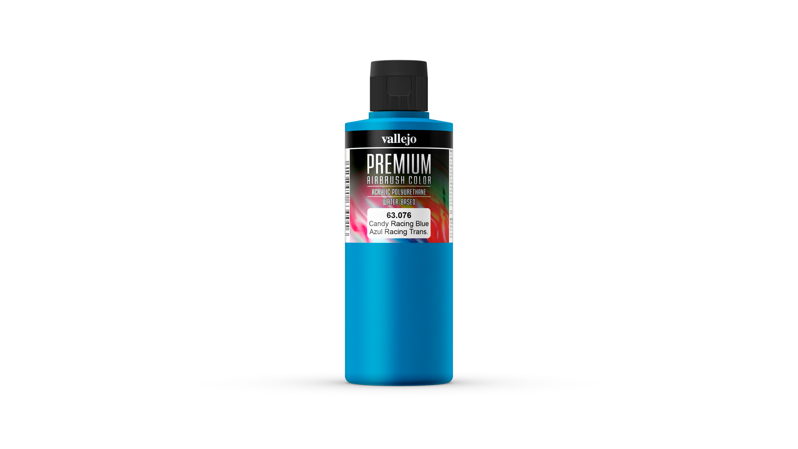 Premium Color Vallejo 63076 Candy Racing Blue 200ml Airbrush Farbe