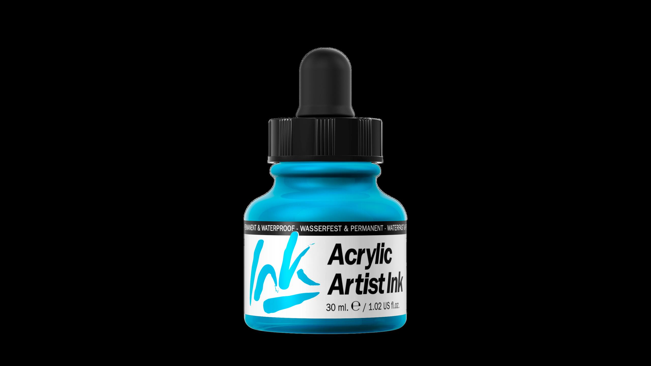 Acrylic Artist Inks Vallejo 60010 Light Blue 30ml Airbrush Tinte