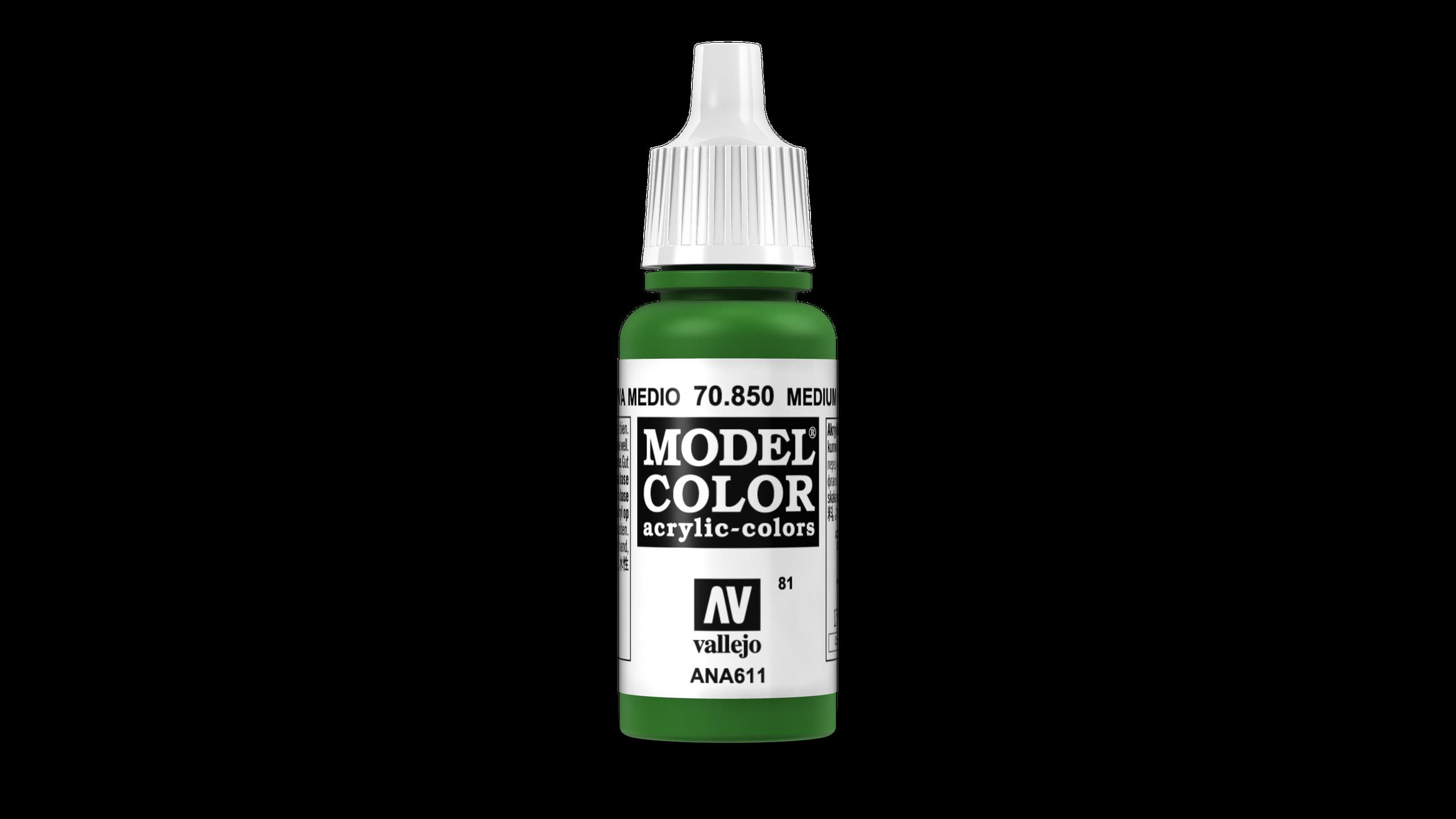 Model Color Vallejo 70850 Medium Olive 17ml Matt Airbrush Farbe