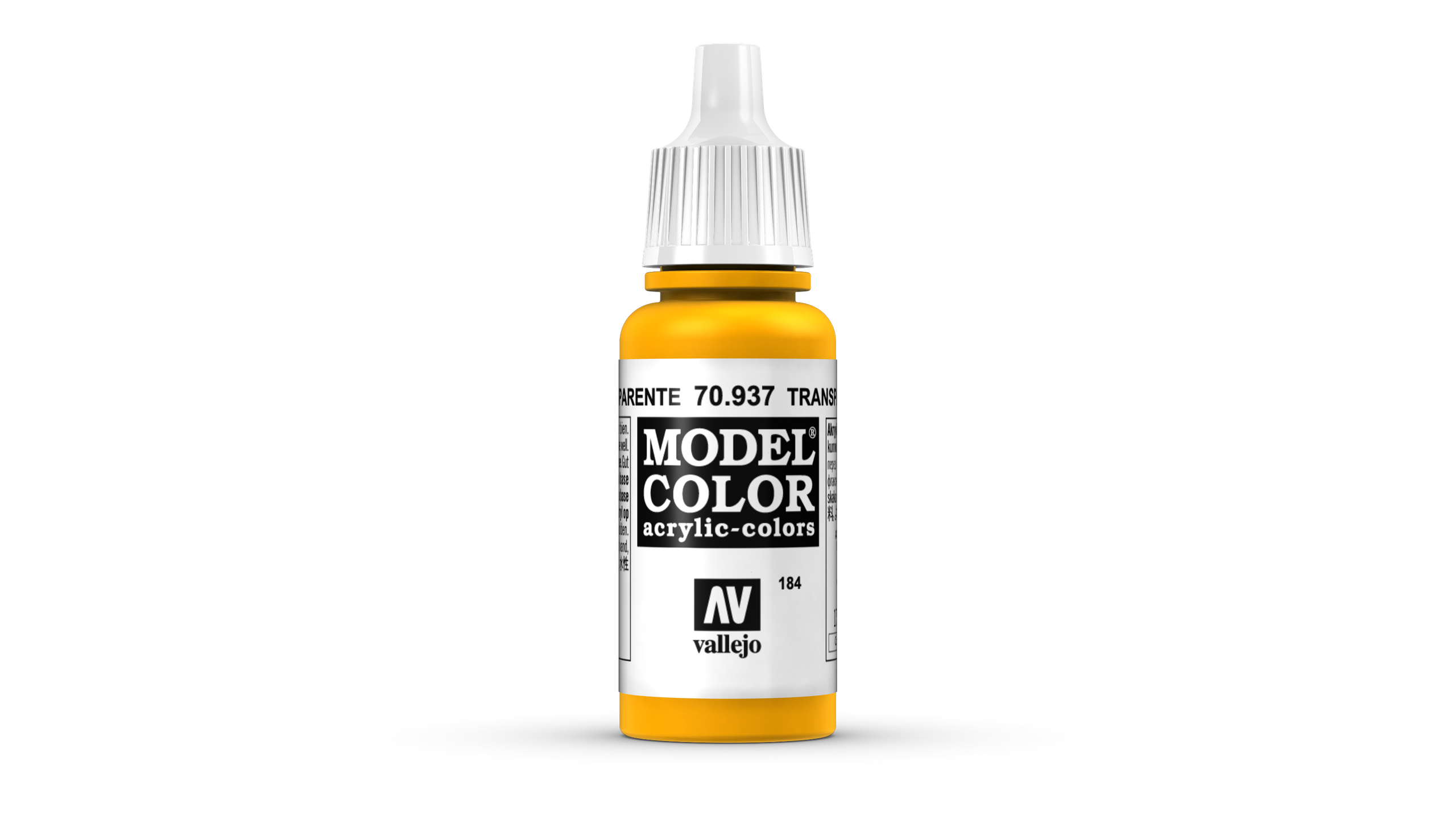 Model Color Vallejo 70937 Transparent Yellow 17ml Airbrush Farbe