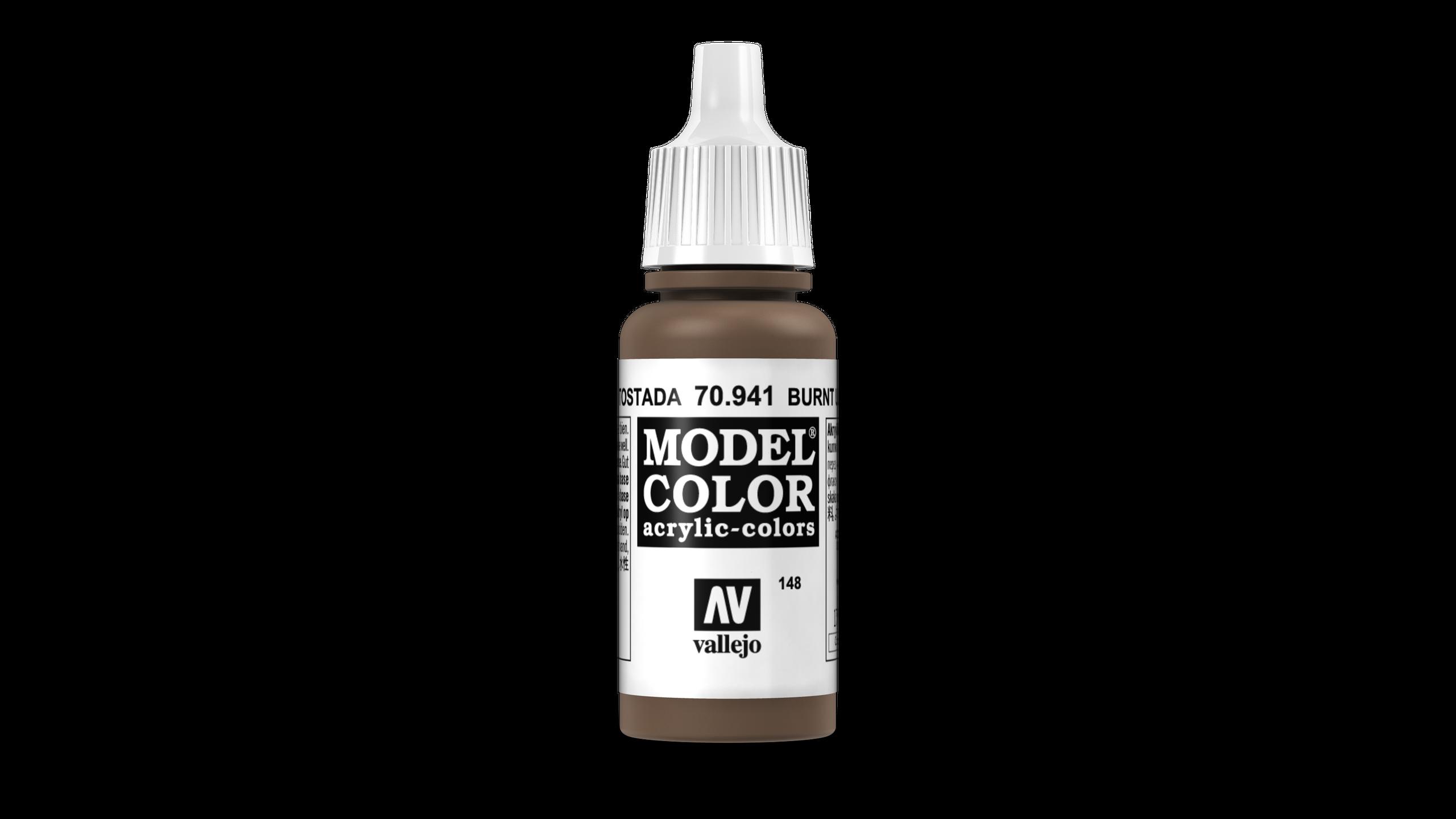 Model Color Vallejo 70941 Burnt Umber 17ml Matt Airbrush Farbe