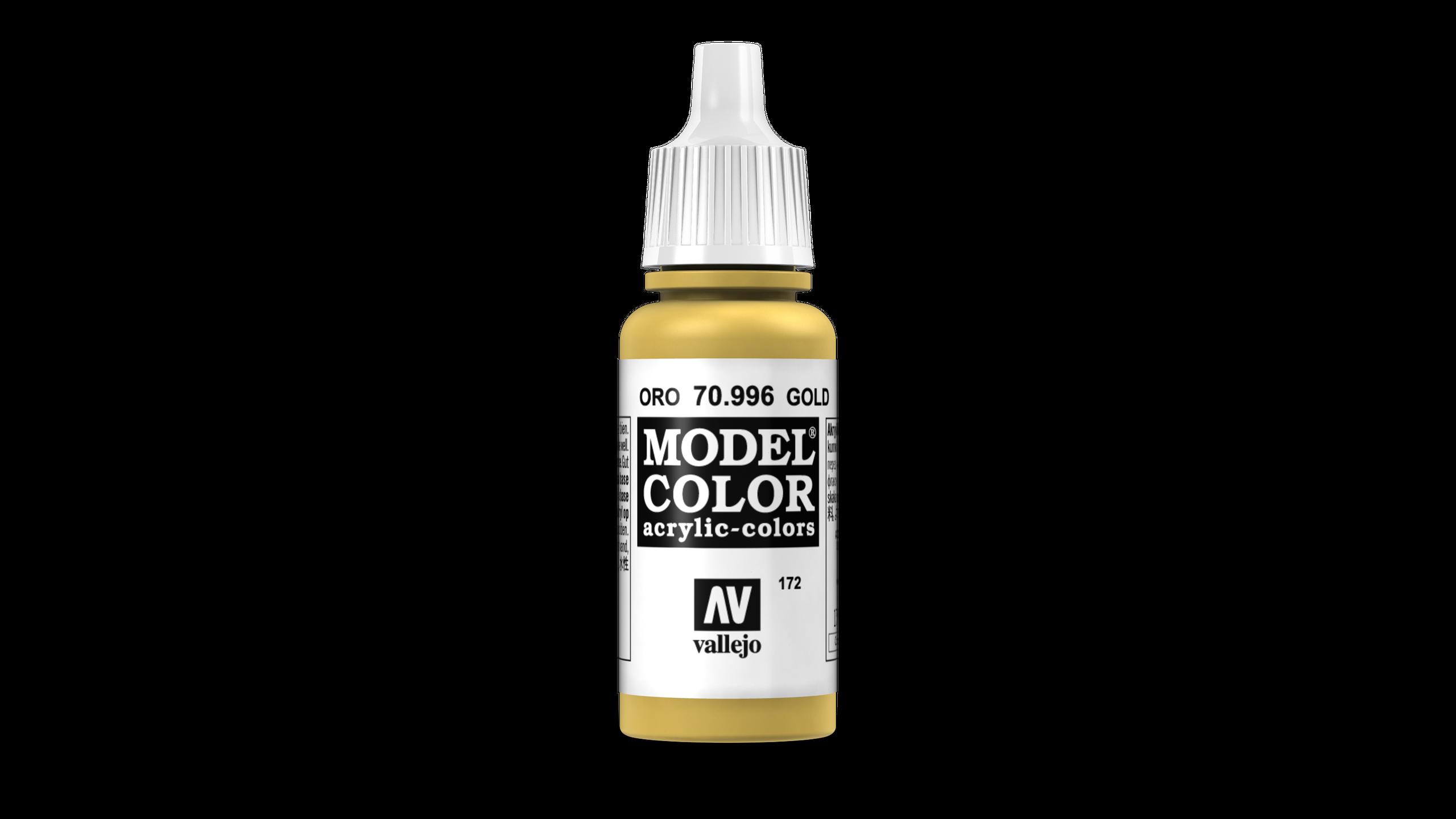 Model Color Vallejo 70996 Gold 17ml Metallic Airbrush Farbe