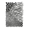 Animalprint Allover Universal Schablone von Viva Decor A3