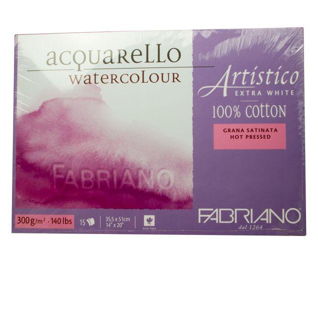 Aquarell Block Fabriano Artistico 300g Papier 35,5 cm x 51 cm Baumwolle extra weiss