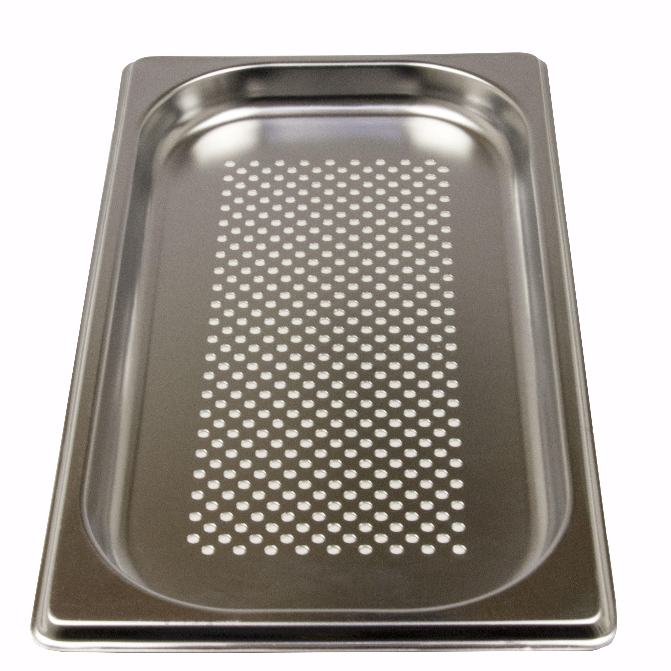 GN 1/2 Gastronormbehälter GN-Behälter Edelstahl 1,25 Liter Tiefe 20mm gelocht