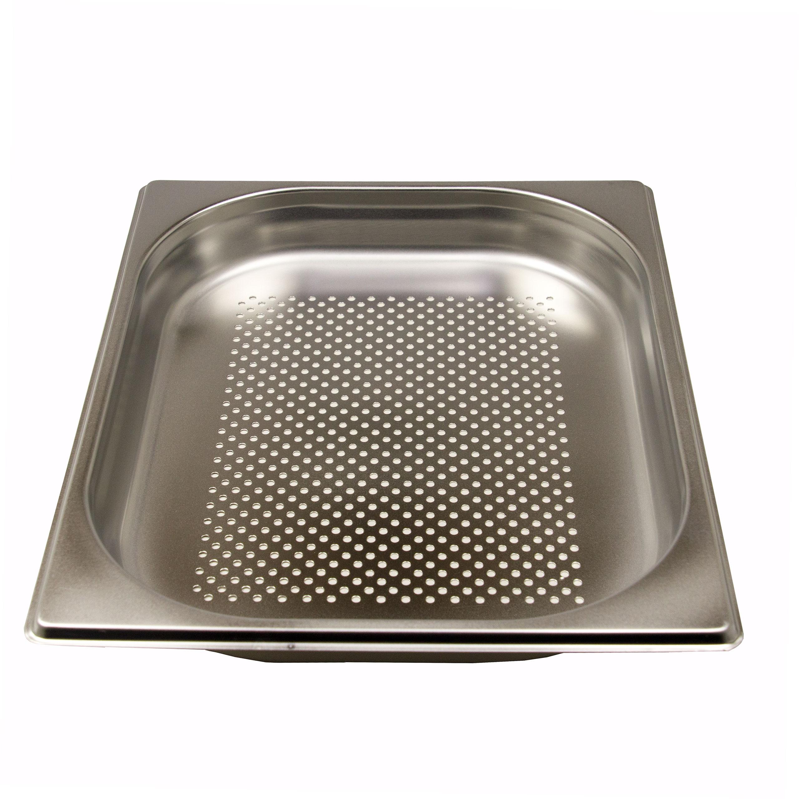 GN 1/2 Gastronormbehälter GN-Behälter Edelstahl 2,5 Liter Tiefe 40mm gelocht
