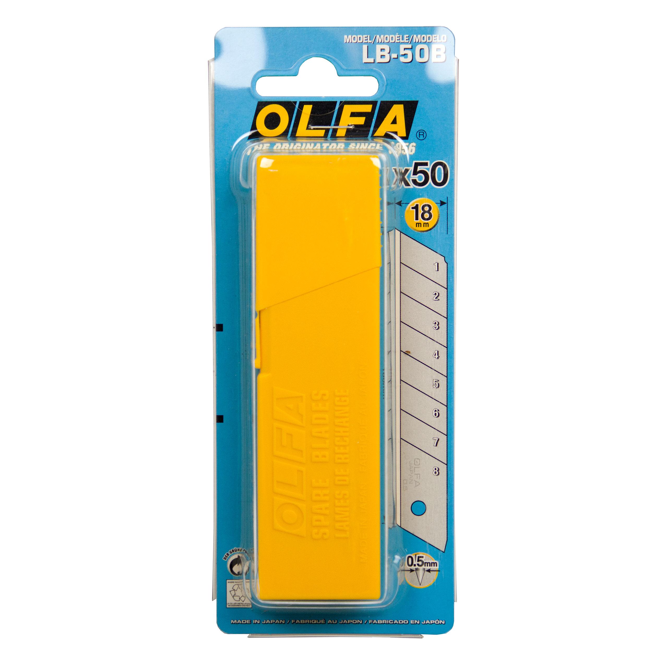Olfa 50 Stück Ersatzklingen LB für Industrie Cutter