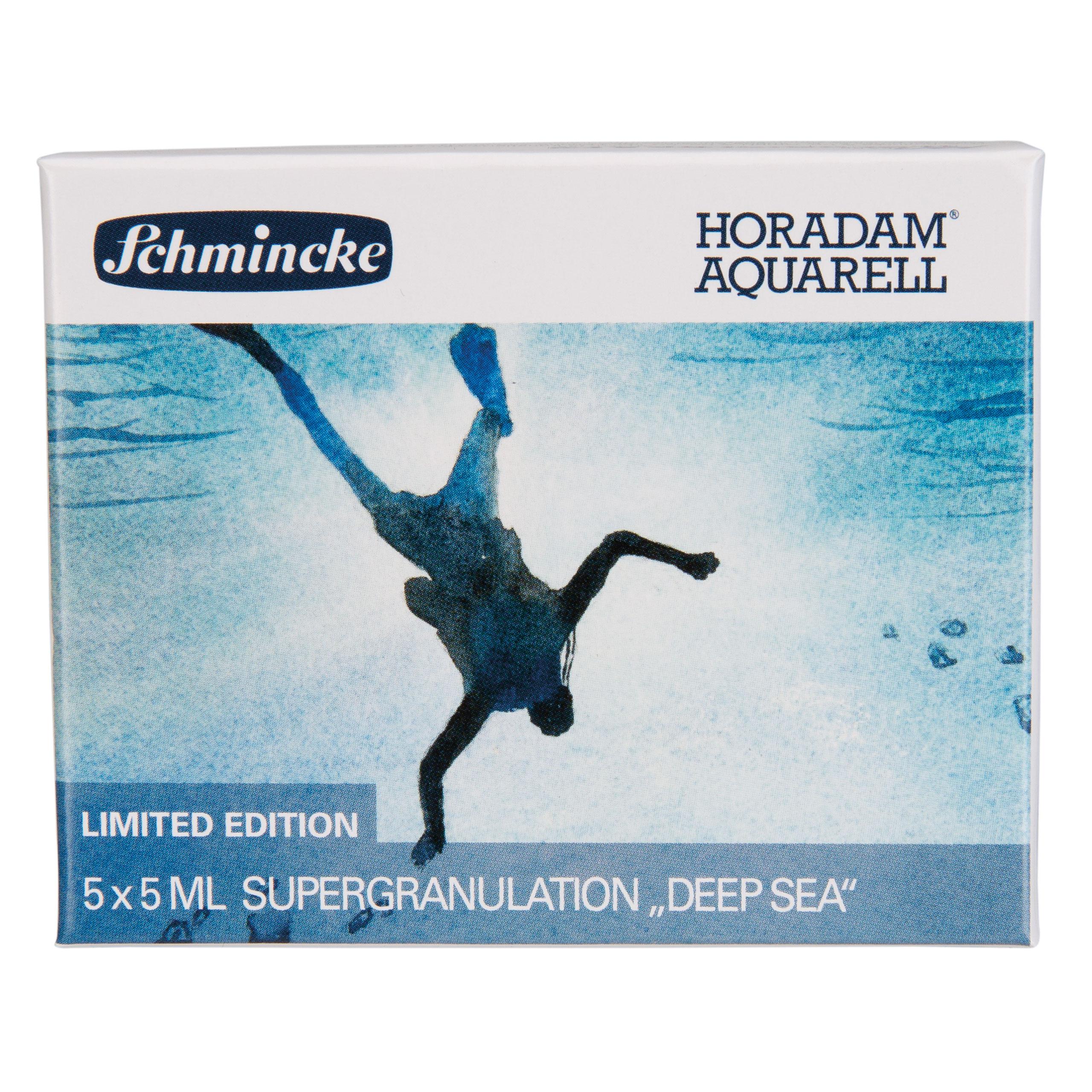 Horadam Aquarellfarbe - Deep Sea - 5 x 5ml Supergranulation Schmincke 74 843 097