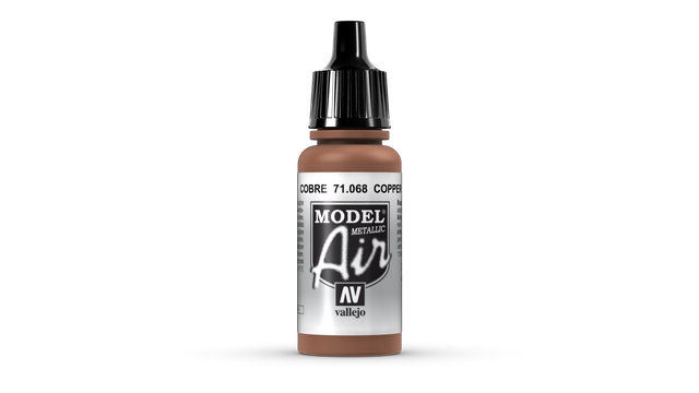 Kupfer  ( Metall )  068 Vallejo Model Air 17ml Airbrush Farbe