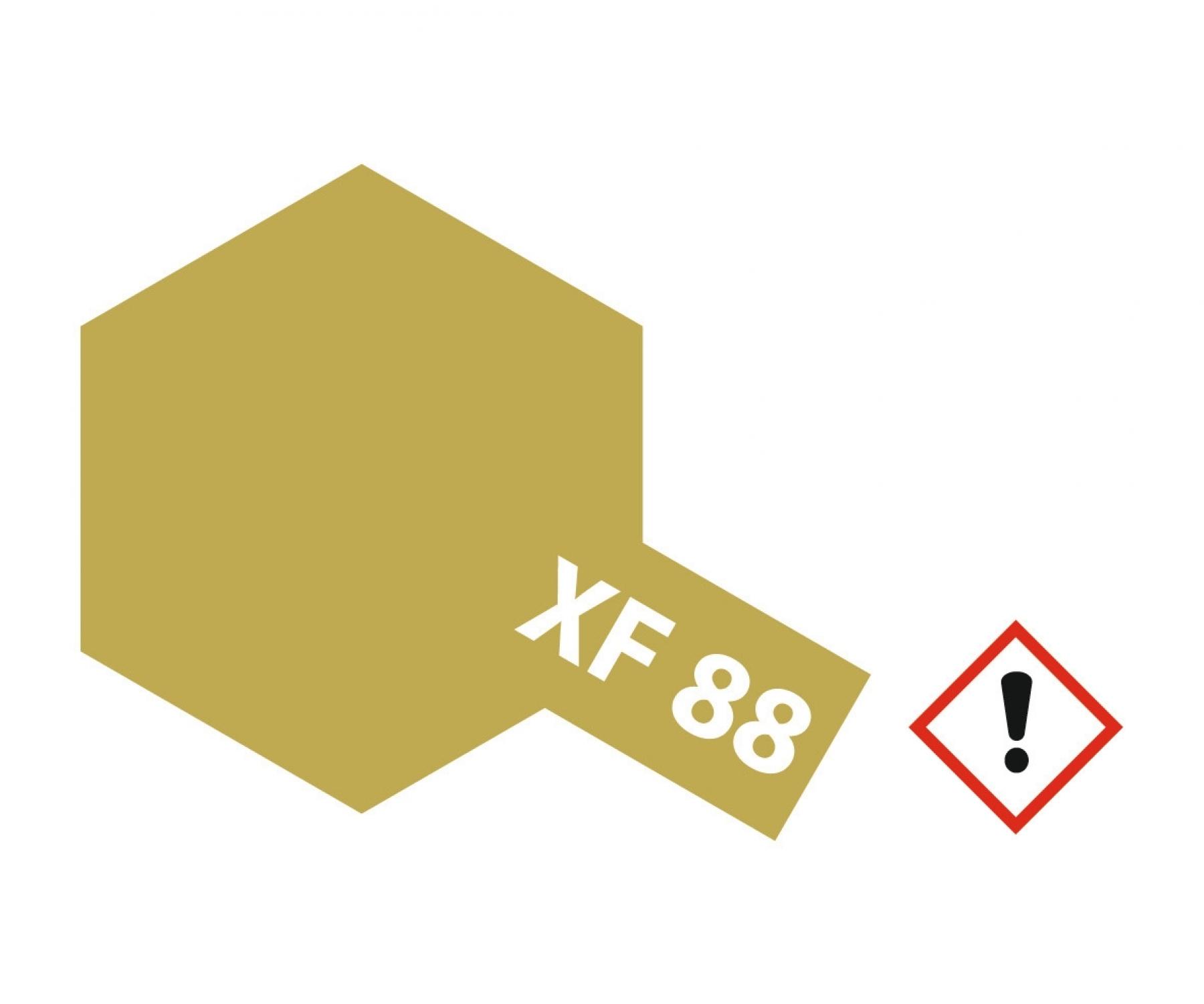 XF-88 Dunkelgelb 2 matt 10ml Acryl - Acrylstreichfarbe wasserloeslich Tamiya 300081788