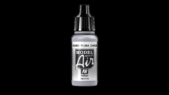 Chromsilber (Metall) 064 Vallejo Model Air 17ml Airbrush Farbe