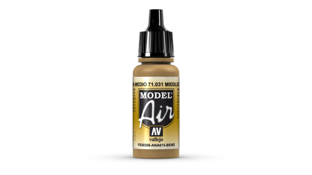 Steinfarbe mittel 031 Vallejo Model Air 17ml Airbrush Farbe