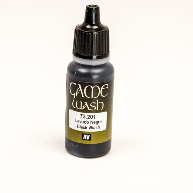 Game Color Washes Acrylfarben Vallejo 73201 Black Shade 17ml