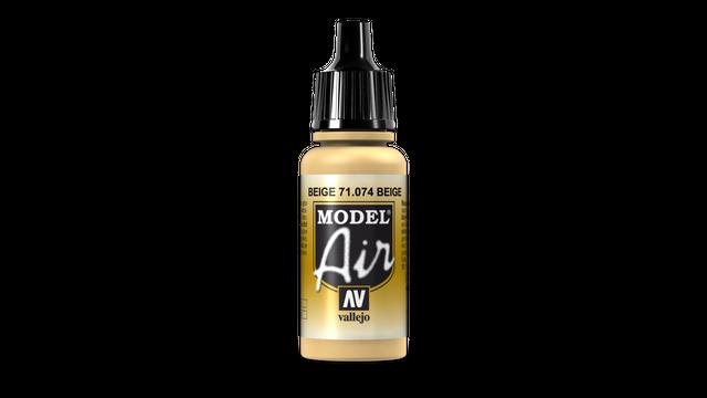 Feldbraun ( Metall ) 074 Vallejo Model Air 17ml Airbrush Farbe