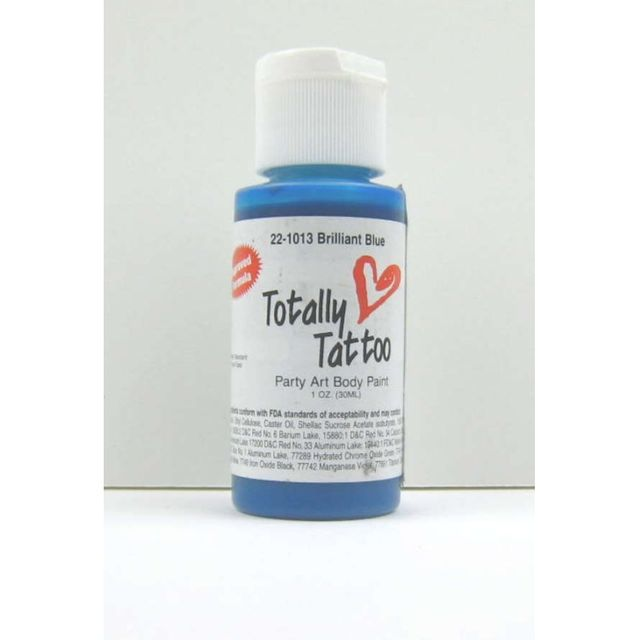 Badger Brilliant Blue Body Paint  30ml Tattoo Airbrush Farbe  22-1013