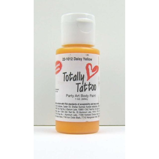 Badger Daisy Yellow (Gelb)Body Paint 30ml Tattoo Airbrush Farbe 22-1012