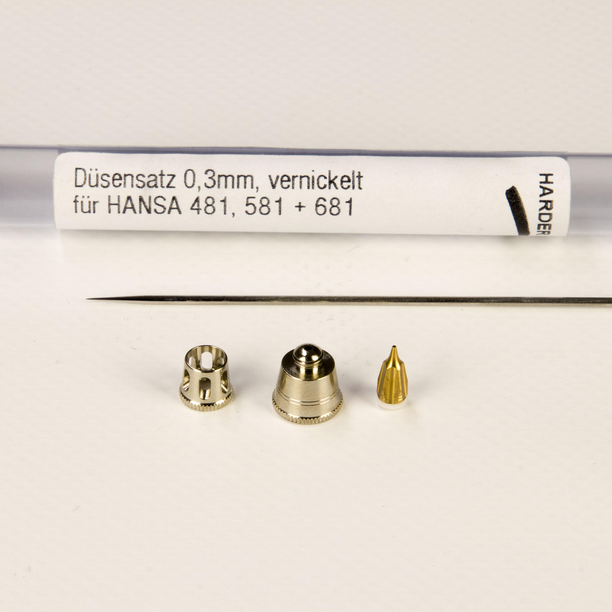Düsensatz 0,3mm 218863 vernickelt fuer Hansa