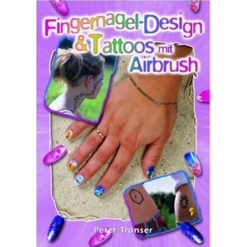 buch fingernagel design tattoos mit airbrush. Black Bedroom Furniture Sets. Home Design Ideas