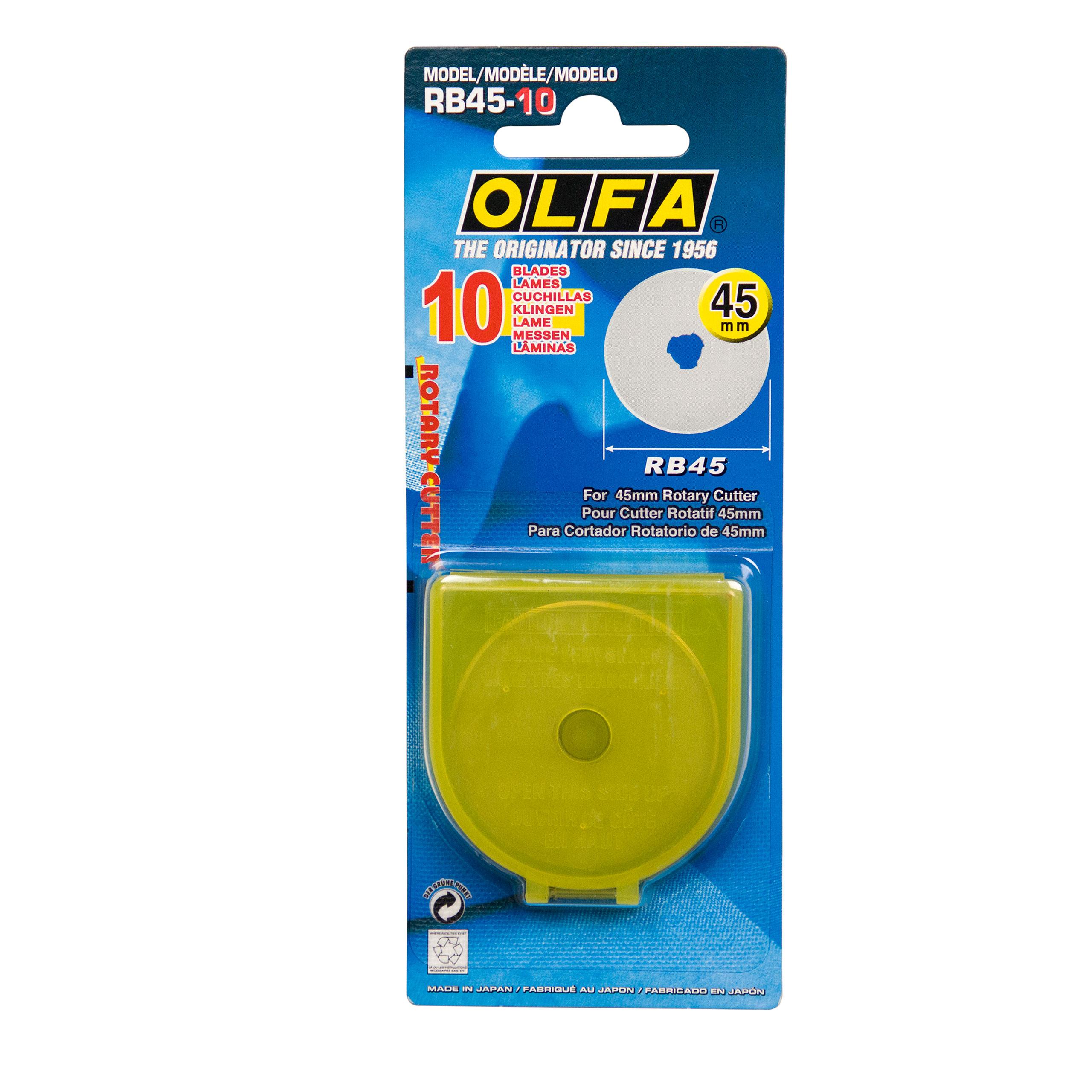 Olfa 10 Ersatzklingen 45mm für OL-750 RB45-10 Inhalt 10 Stück