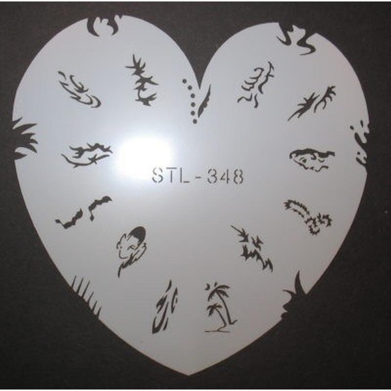Airbrush-Schablone STL-348