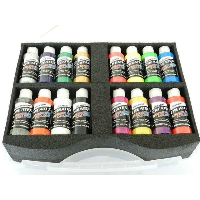 Createx Airbrush Colors Sortimentskoffer opak 800 110