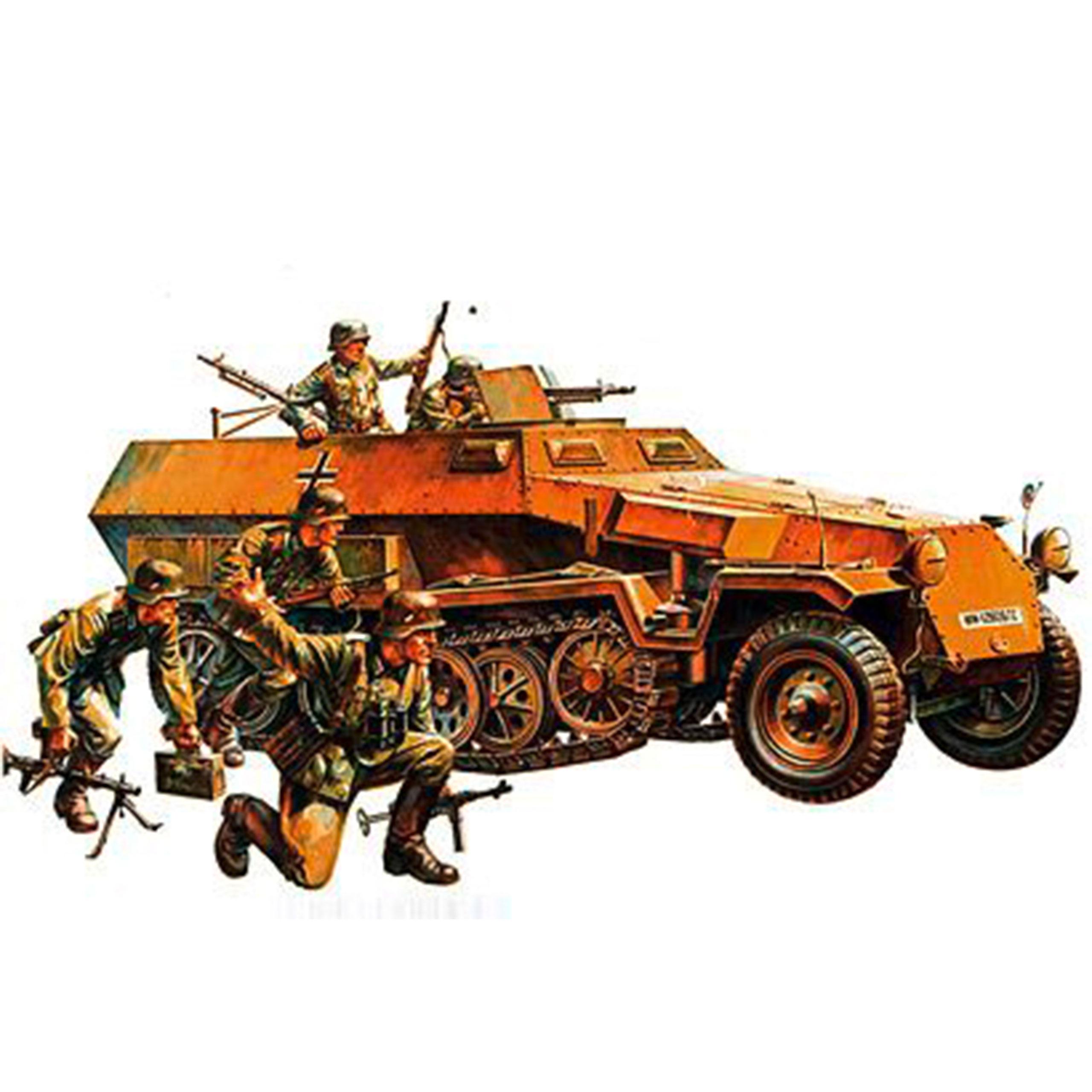 Tamiya 1:35 WWII Sonderkfz. 251/1 Hanomag Halbkettenfahrzeug 300035020