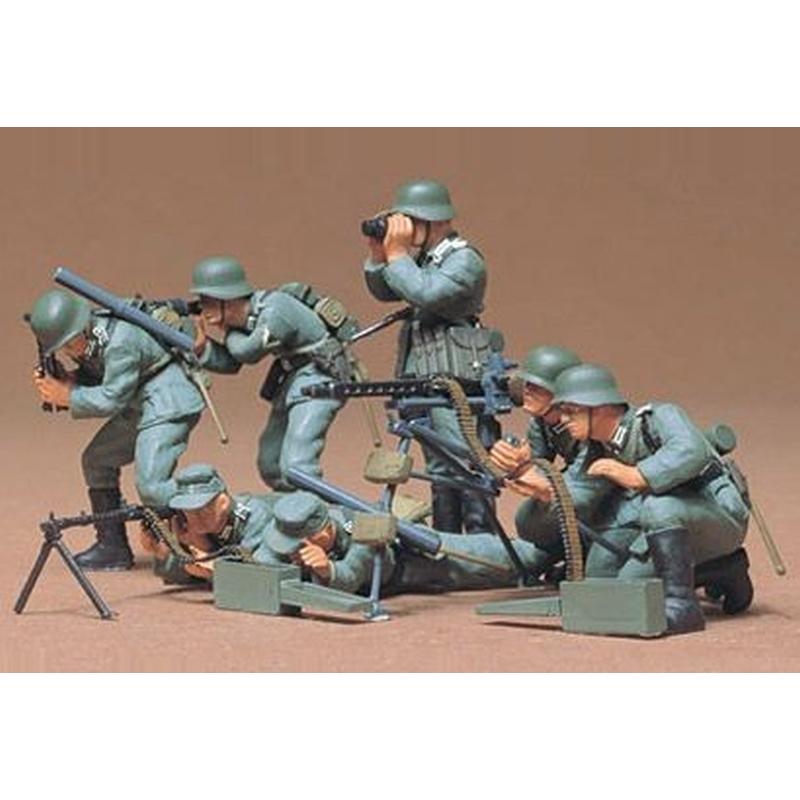 Tamiya 1:35 WWII Figuren.-Set Deutsche MG Truppen 300035038