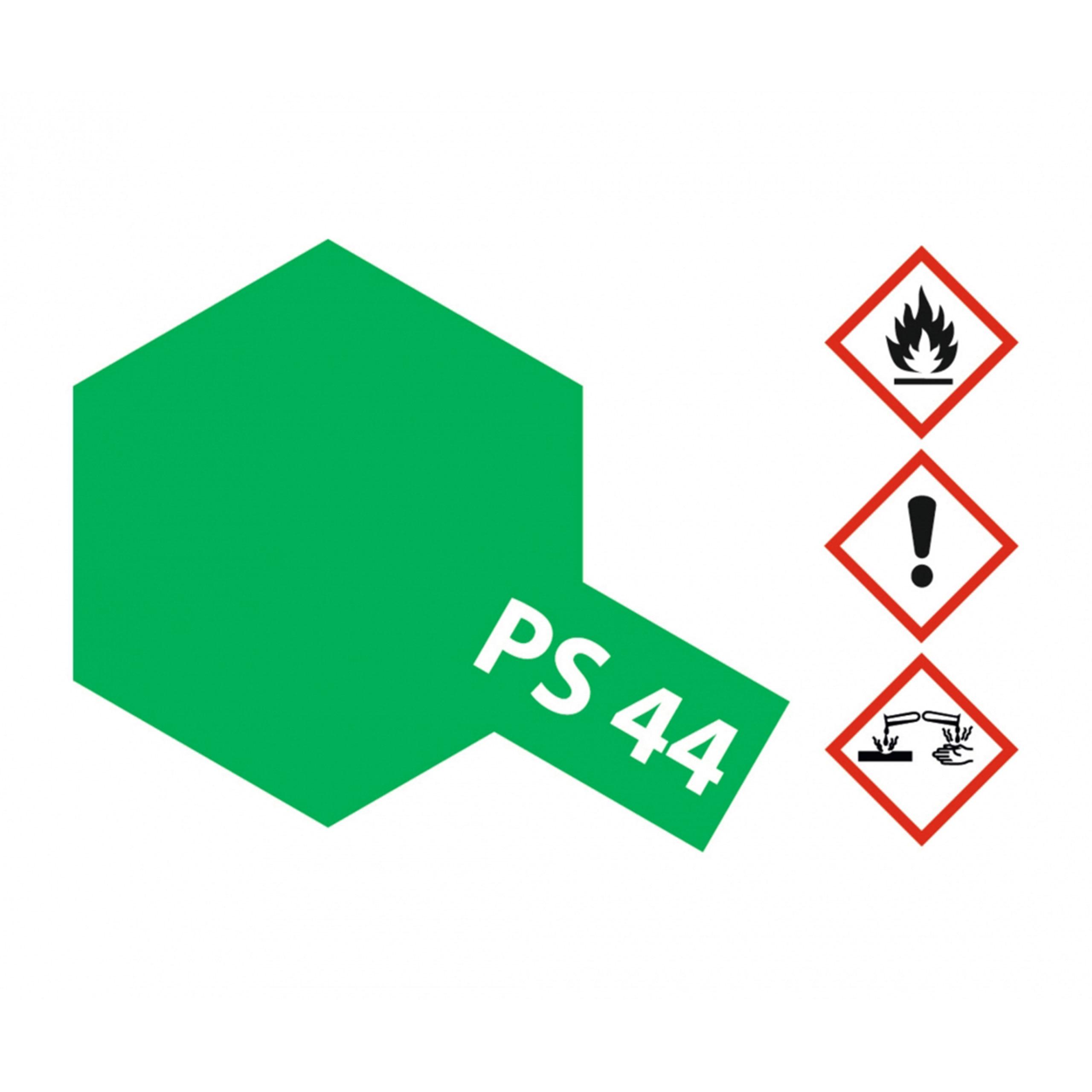 PS-44 Translucent Gruen Polyc. - 100ml Sprayfarbe Lexan - Tamiya 300086044