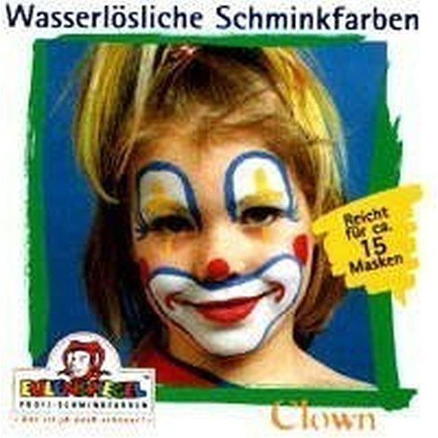 Eulenspiegel Profi Aqua Make Up Motiv - Set Clown