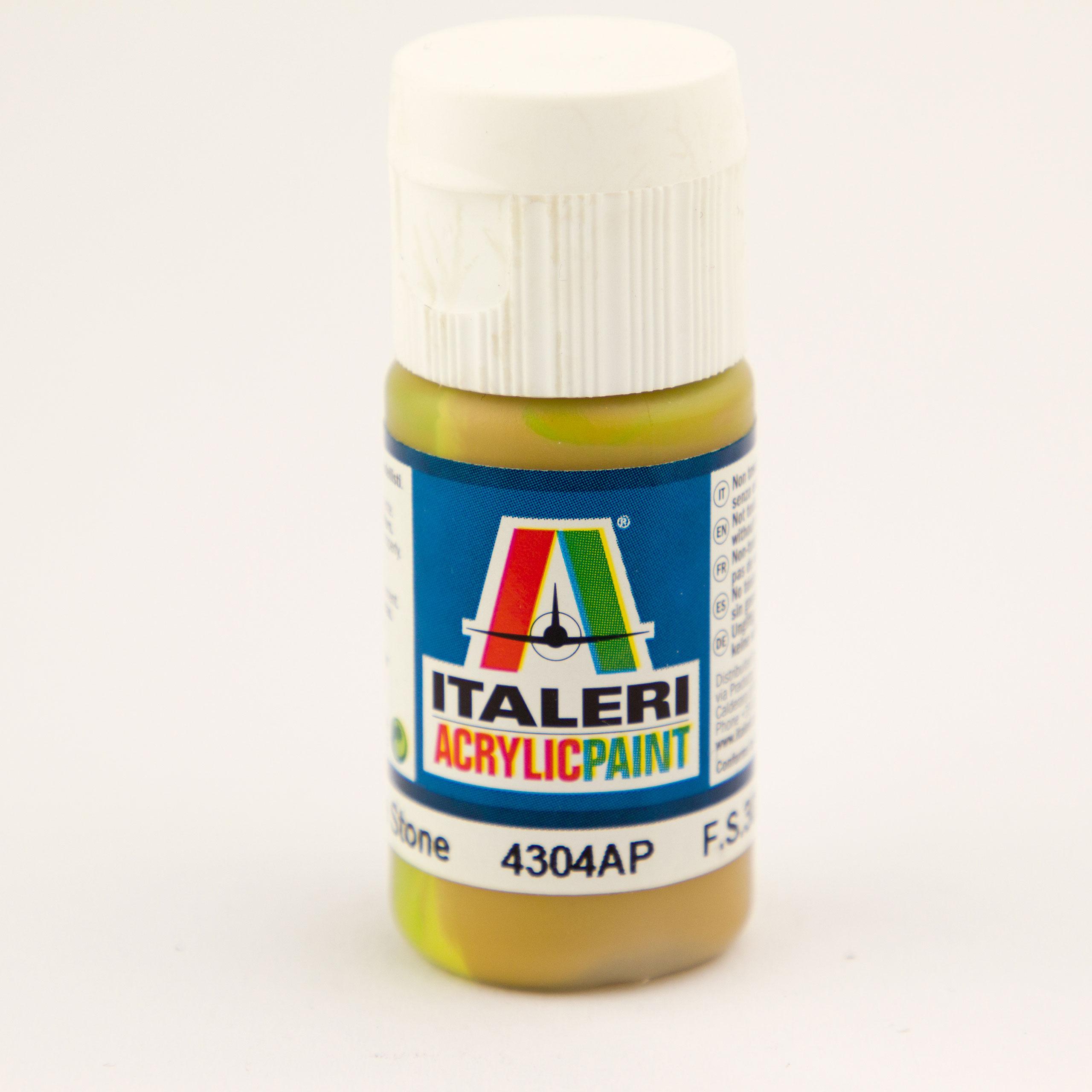 Italeri IT Acrylfarbe 4304 Stein mittel ma 20 ml Airbrush Farbe