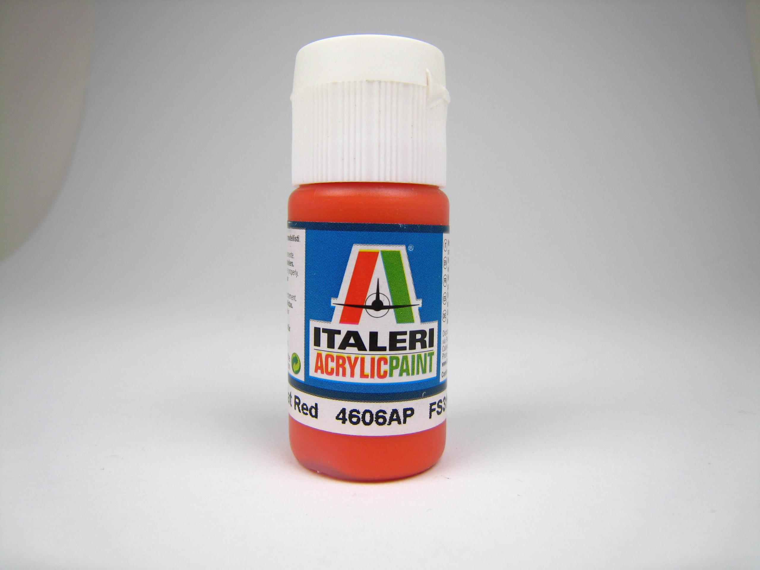Italeri IT Acrylfarbe 4606 Rot matt 20 ml Airbrush Farbe