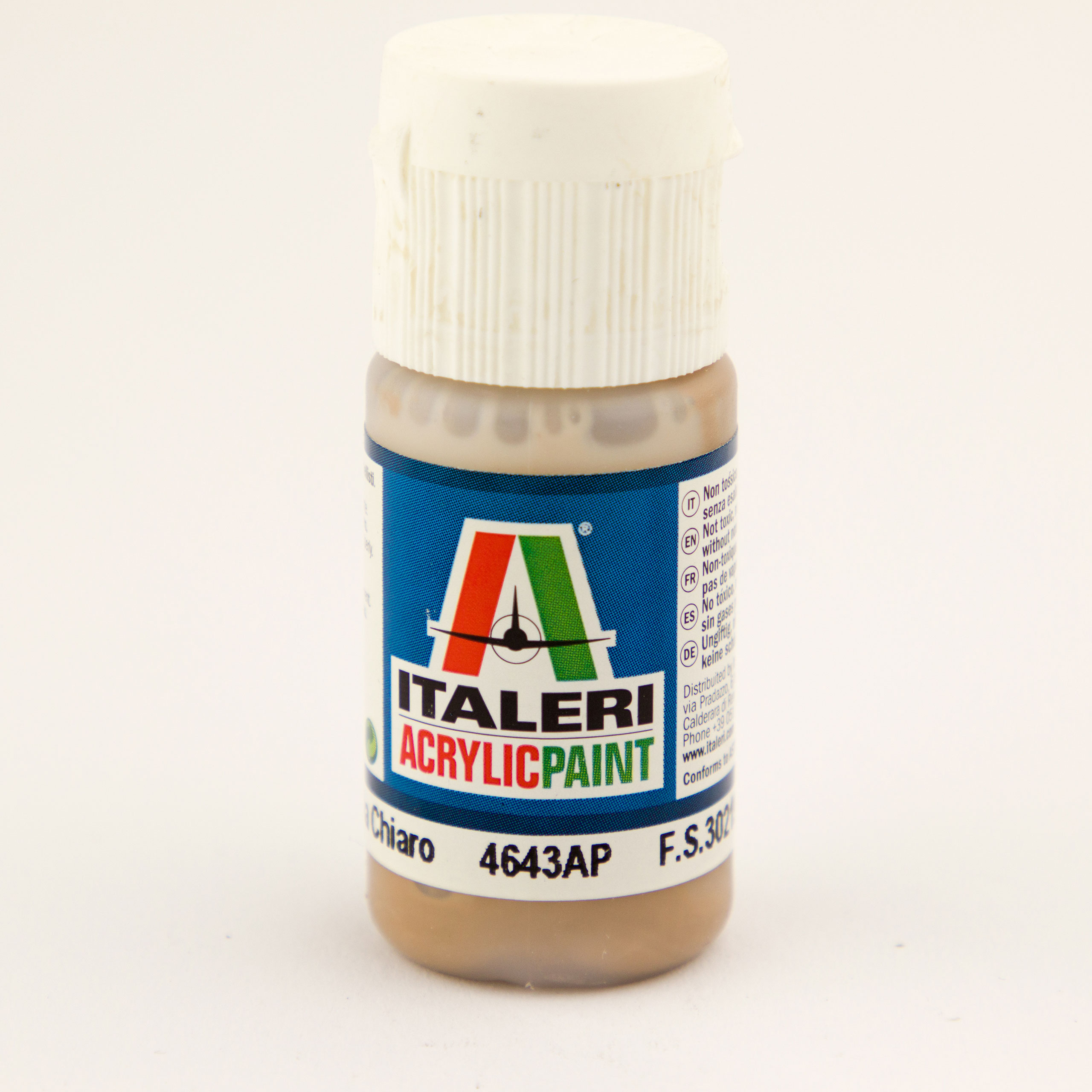Italeri IT Acrylfarbe 4643 Haselnussbraun, 20 ml Airbrush Farbe