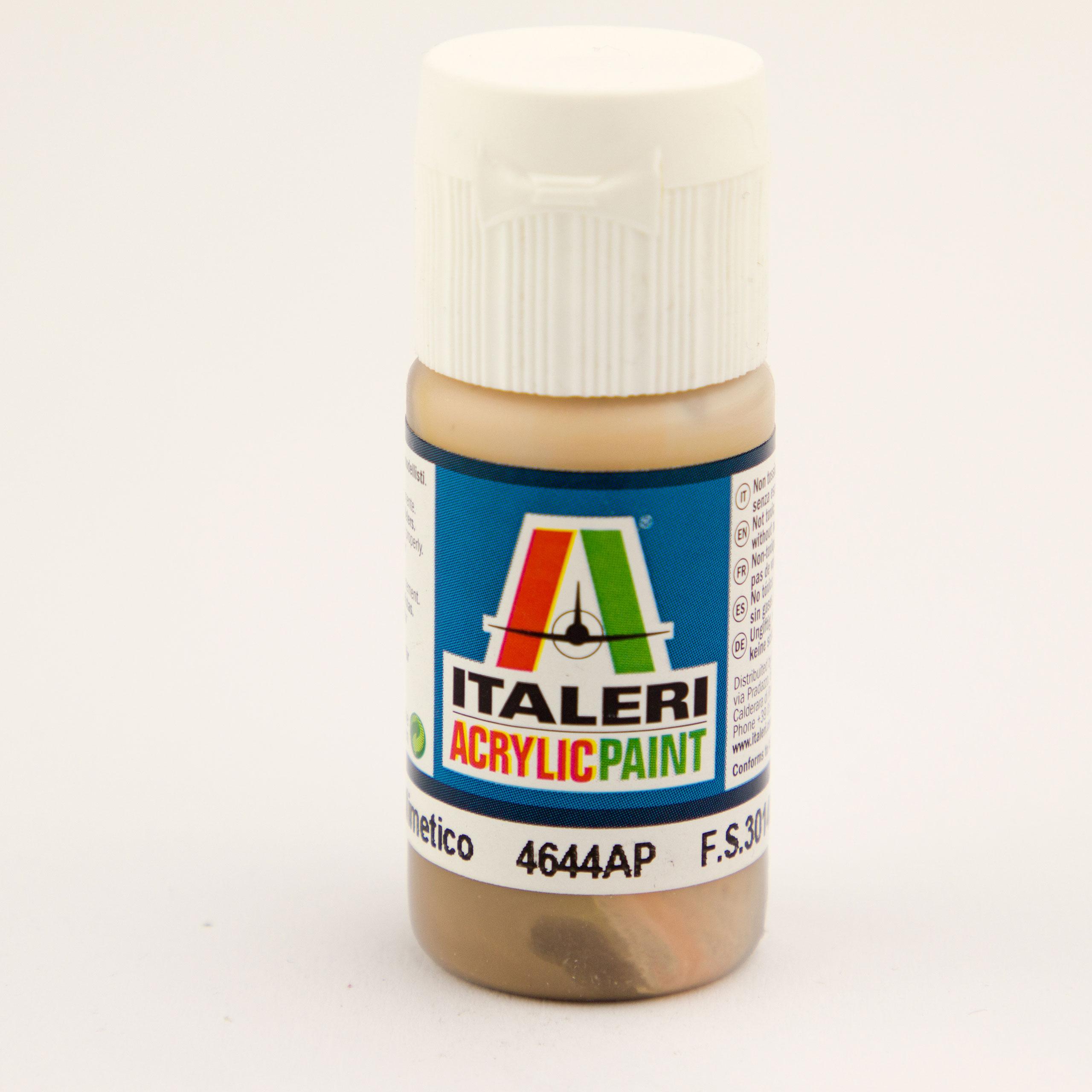 Italeri IT Acrylfarbe 4644 Tarn-Braun, mat 20 ml Airbrush Farbe